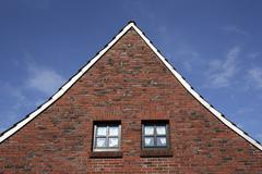 Gable of a house in east friesland, lower saxony, germany, europe Stock Photos