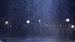 Water falls in Moon Light Stock Footage
