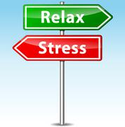 Stock Illustration of vector stress and relax directions concept