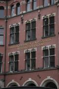 "Lettering ""hamburger hafen und logistik aktiengesellschaft"", german for ""hamb Stock Photos"