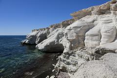 Rocks at governor's beach, southern cyprus, greek cyprus, south eastern europ Stock Photos