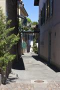 Historic town centre of saint-prex, canton of vaud, switzerland, europe Stock Photos