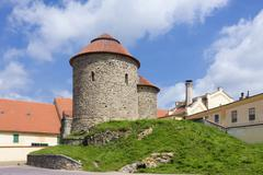 the rotunda of our lady and st. catherine, cultural monument, znojmo district - stock photo