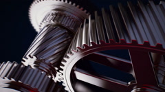 Animation of gears working together. Stock Footage