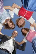 young happy styrian family - stock photo