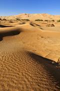 Sand dune of erg admer, wilaya illizi, algeria, sahara, north africa, africa Stock Photos