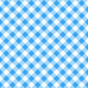 Blue white plaid tablecloth Stock Illustration