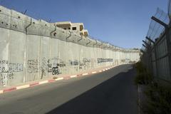 Border fortification between israel and the palestinian territories in the we Stock Photos