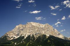 The summit of mt. zugspitze, ehrwald, wettersteingebirge mountain, tyrol, aus Stock Photos