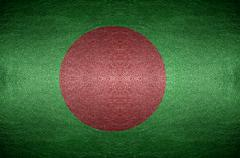 Closeup screen bangladesh flag concept on pvc leather for background Stock Photos