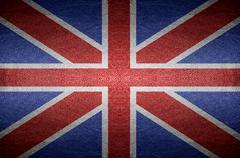 england flag on pvc leather background. - stock photo