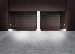 Stock Photo of garage entrance, hafencity district, hamburg, germany, europe
