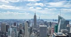New York City Manhattan buildings skyline time-lapse daytime 4k - stock footage