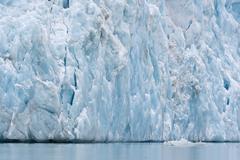Stock Photo of Glacial Scarps Monacobreen glacier Liefdefjorden fjord Spitsbergen Svalbard