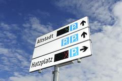 parkleitsystem - stock photo