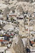 View of the town of Goreme Cappadocia Central Anatolia Region Anatolia Turkey Stock Photos