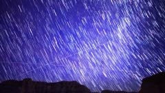4K Milkyway Startrails 20 Timelapse Red Rock Canyon California Stock Footage