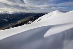 A snow cornice on Blaseneck peak Eisenerzer Alpen mountains Styria Austria Stock Photos
