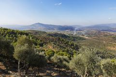 Bati Mentese Daglari mountain range in Milas Mugla Province Caria Aegean Stock Photos