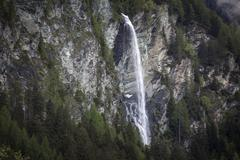 Waterfall at the Grossglockner at Heiligenblut Carinthia Austria Europe Stock Photos