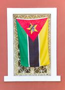 flag of mozambique - stock photo