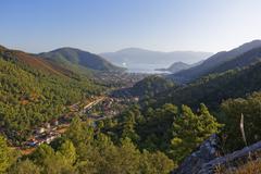 View of the resort of Icmeler near Marmaris Mugla Province Aegean Turkey Asia Stock Photos