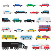 Simple auto icon set Stock Illustration