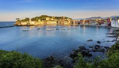 Baia del Silenzio Bay of Silence Sestri Levante Liguria Italy Europe Stock Photos
