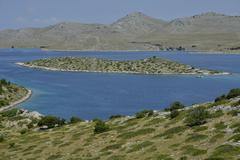 View from Levrnaka island over the Kornati Islands Adriatic Sea Kornati Islands Stock Photos