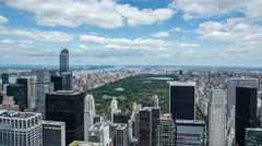 New York City Manhattan Central Park skyline time-lapse daytime - stock footage