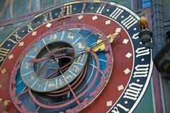 Zodiacal clock in bern Stock Photos