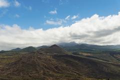Volcanic landscape surrounding Santiago del Teide Tenerife Canary Islands Spain - stock photo