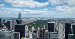 New York City Manhattan Central Park skyline time-lapse daytime 4k - stock footage