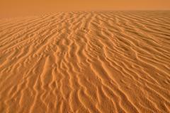 Sand ripples texture on a sand dune Tassili nAjjer Sahara desert Algeria Africa Stock Photos