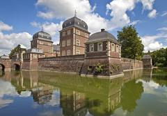 Stock Photo of Baroque moated castle Ahaus Castle Technical Academy Ahaus Munsterland North