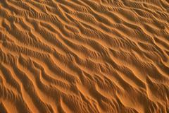 Sand ripples texture on a sand dune Tassili nAjjer Sahara desert Algeria Africa - stock photo