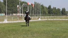 Dressage horse and rider Stock Footage