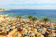 Sharm el sheikh, egypt -  november 30: the tourists are on vacation at popula Stock Photos