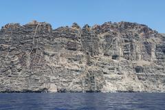 Coastal cliffs of Los Gigantes Tenerife Canary Islands Spain Europe Stock Photos
