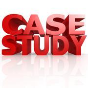 case study word - stock illustration