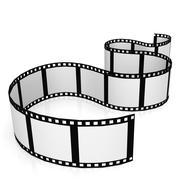isolated film strip - stock illustration