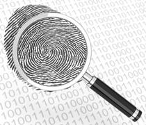 the digital fingerprint - stock illustration