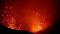 Volcano Yasur Eruption Stock Footage