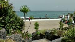 Spain The Canary Islands Tenerife 002 waterfront promenade of Puerto de la Cruz Stock Footage