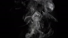 Narrow Cigarette Smoke - stock footage