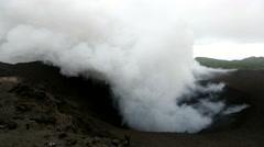 Volcano Yasur Shockwaves Stock Footage