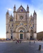 Orvieto Cathedral or Cathedral of Santa Maria Assunta Orvieto Umbria Italy Stock Photos
