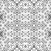 abstract seamless floral background - stock illustration
