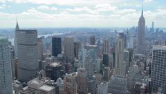 New York City Manhattan buildings skyline pan daytime 4k - stock footage
