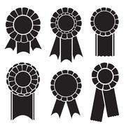 Set of prize ribbons Stock Illustration